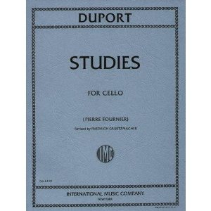 Duport, Jean-Louis - 21 Studies, Complete - Cello solo - edited by Pierre Fournier - International